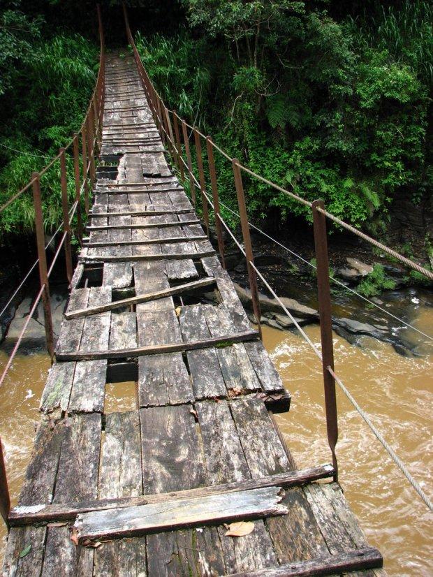 scary footbridge