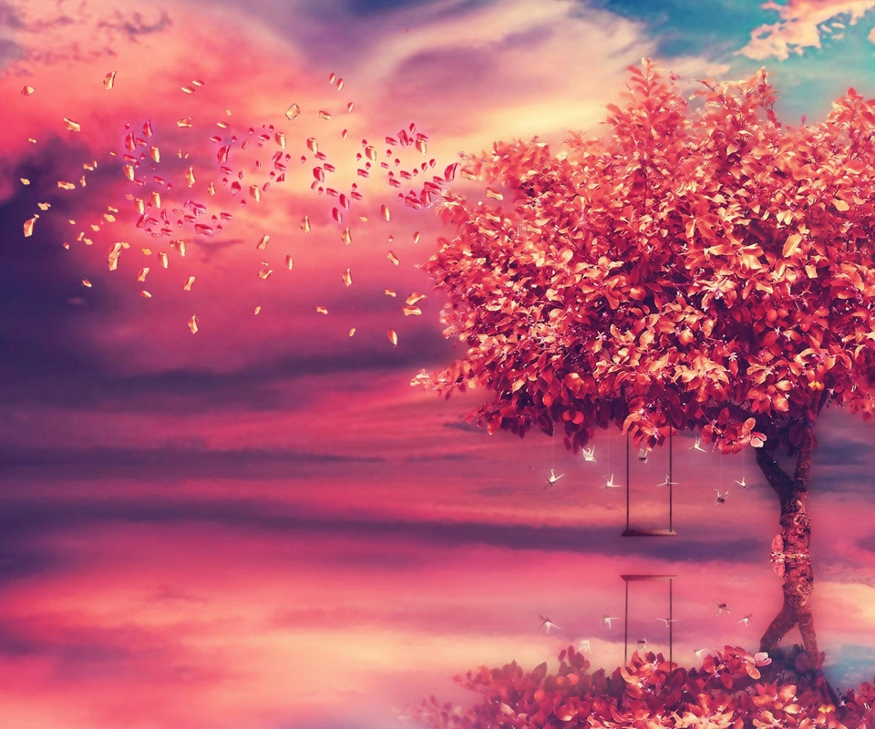 Love Tree Wallpapers : Tree Of Love With Hearts And Wind (37 Wallpapers) HD Desktop Wallpapers