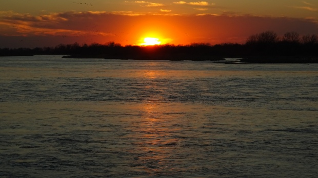 sunset on the Platte