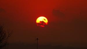 obscured sundown