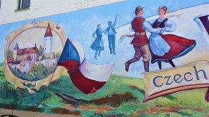 Mural in Wilber, Nebraska, Czech Capital of the USA