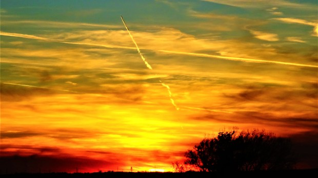 colorful contrails
