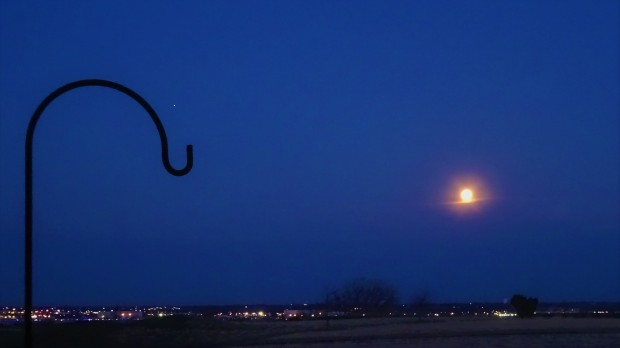 Jupiter and the bloody Moon