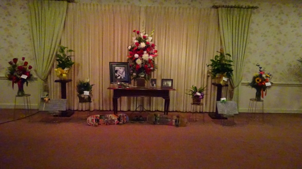 Alex's skateboards, shoes, and flowers at Thurmon Funeral Home