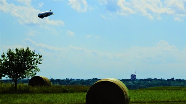 Goodyear Blimp at Lincoln Airport