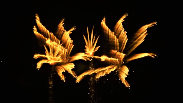 Golden fireworks