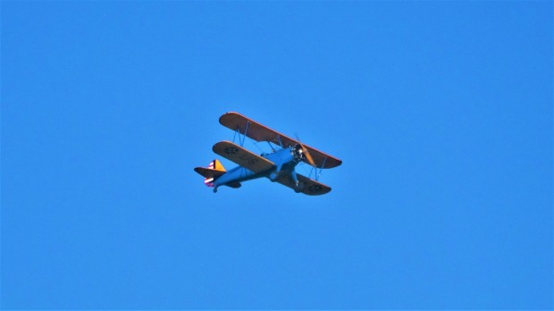Biplane seen on Smithsonian commercial